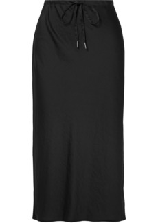 T by Alexander Wang Crinkled-satin Midi Skirt