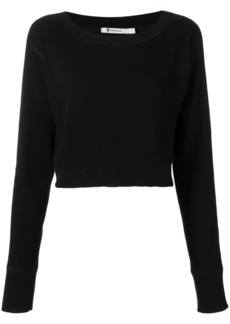 T by Alexander Wang cropped boat neck jumper