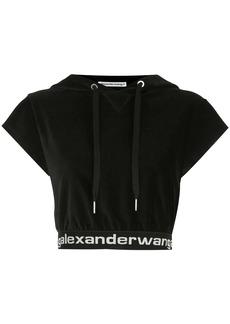 T by Alexander Wang cropped corduroy hoodie