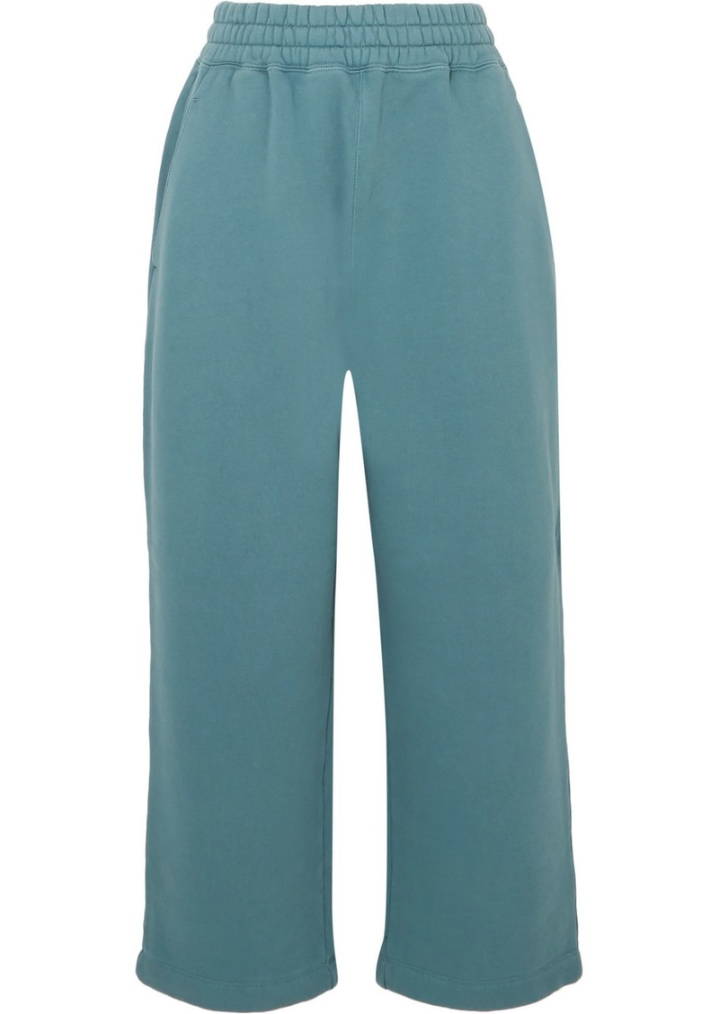 T by Alexander Wang Cropped Cotton-jersey Track Pants