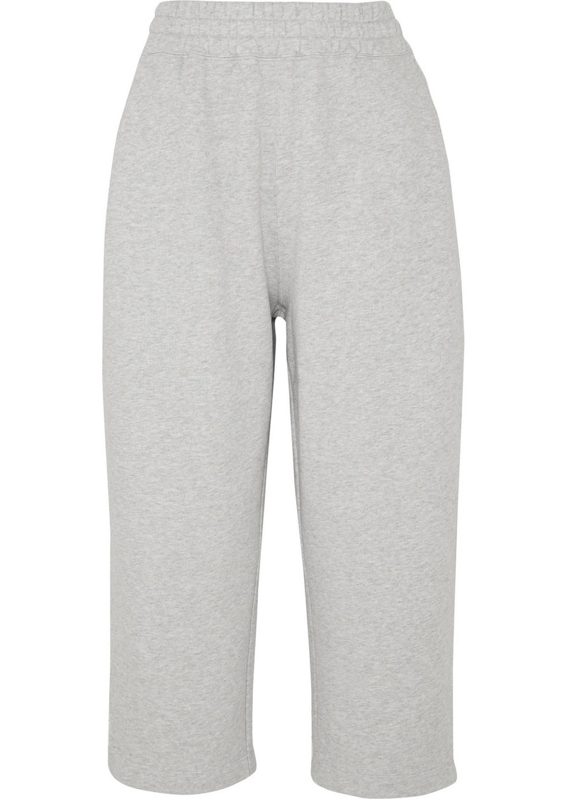 T by Alexander Wang Cropped Cotton-terry Track Pants