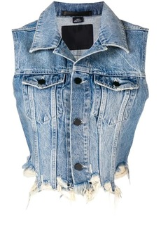 T by Alexander Wang cropped denim vest