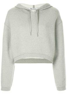 T by Alexander Wang cropped dense fleece hoodie