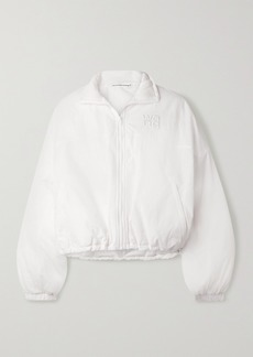 T by Alexander Wang Cropped Embroidered Shell Jacket