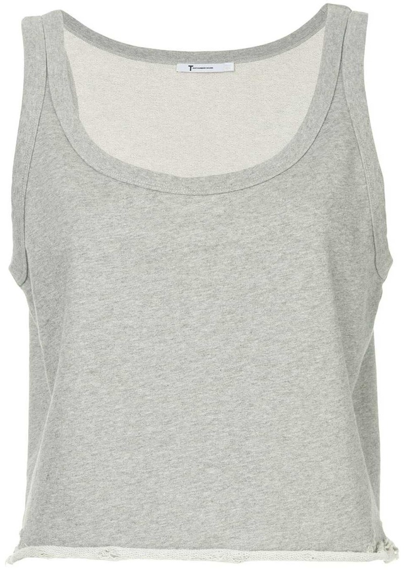 T by Alexander Wang cropped fitted tank top