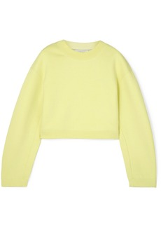 T by Alexander Wang Cropped French Cotton-terry Sweatshirt
