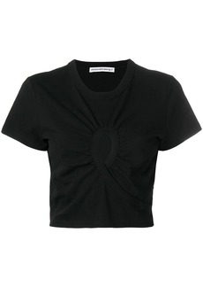 T by Alexander Wang cropped keyhole T-shirt
