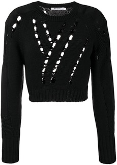 T by Alexander Wang cropped knit jumper
