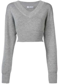 T by Alexander Wang cropped knit sweater