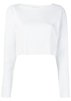 T by Alexander Wang cropped knit top