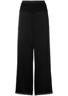 T by Alexander Wang cropped lace trim trousers