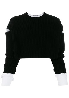 T by Alexander Wang cropped layered jumper