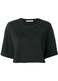 T by Alexander Wang cropped logo T-shirt