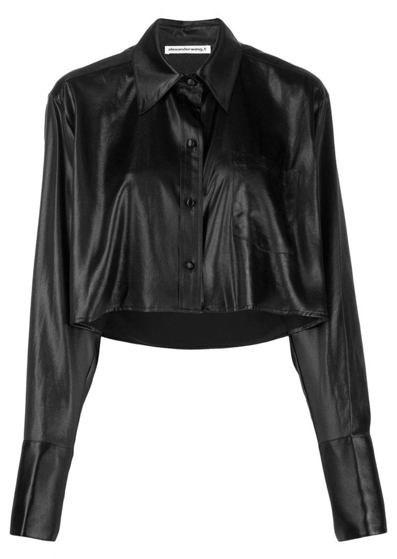 T by Alexander Wang cropped long-sleeve shirt