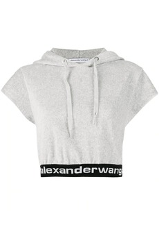 T by Alexander Wang cropped short-sleeve hoodie