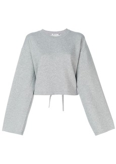 T by Alexander Wang cropped sweat top