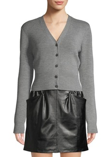 T by Alexander Wang Cropped Wool-Blend Cardigan