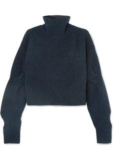 T by Alexander Wang Cropped Wool-blend Turtleneck Sweater