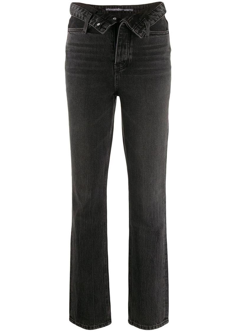 Alexander Wang cult flip straight-leg jeans