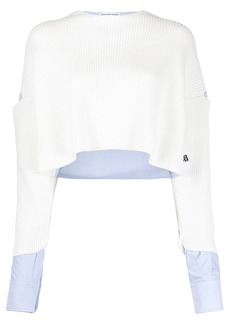T by Alexander Wang cut-detail cropped jumper