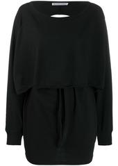 T by Alexander Wang cut-out back sweatshirt dress