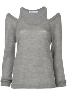 T by Alexander Wang cut out detail knitted top
