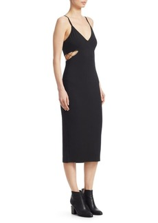 T by Alexander Wang Cut-Out Jersey Tank Dress