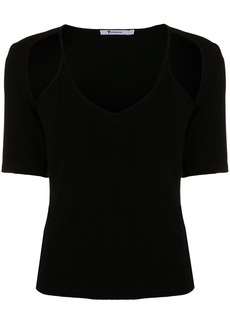 T by Alexander Wang cutout armhole tank cami twofer top