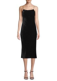 T by Alexander Wang Cutout Velvet Midi Dress
