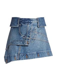 T by Alexander Wang Deconstructed Denim Mini Skirt