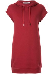 T by Alexander Wang dence fleece hoodie dress