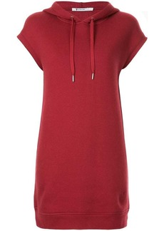 T by Alexander Wang dence fleece hoodie dress