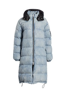 T by Alexander Wang Denim Longline Puffer Jacket