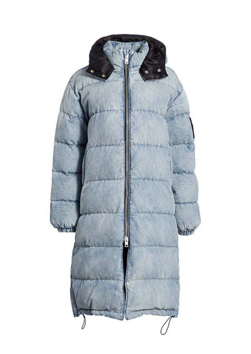 T by Alexander Wang Denim Longline Puffer Jacket