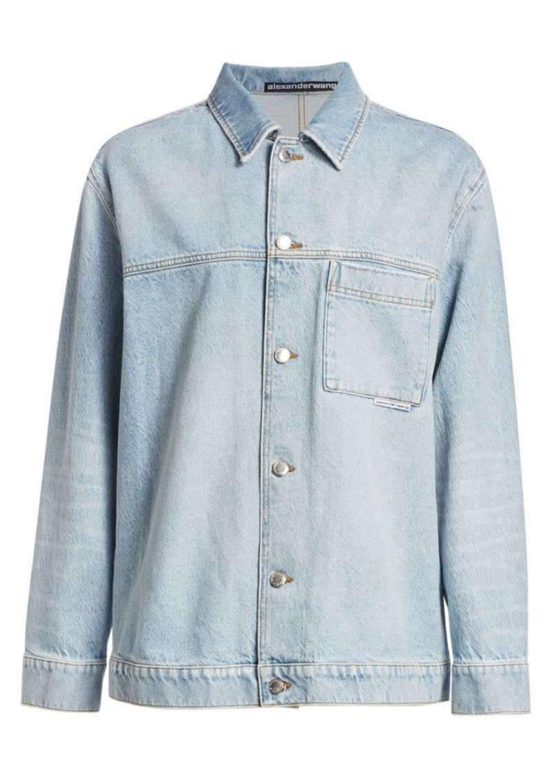 T by Alexander Wang Denim Pajama Shirt