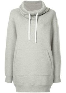 T by Alexander Wang dense fleece hoodie dress