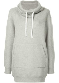 T by Alexander Wang dense fleece hoodie dress