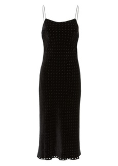 T by Alexander Wang Devore Velvet Midi Dress