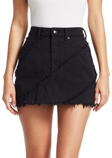 T by Alexander Wang Diagonal Seamed Denim Skirt