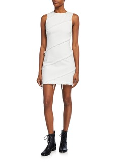 T by Alexander Wang Diagonal Seamed Sleeveless Sheath Dress