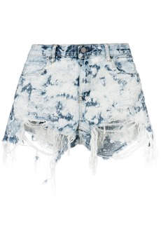 T by Alexander Wang distressed detail shorts