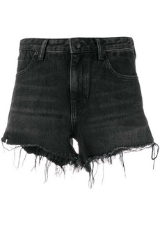 T by Alexander Wang distressed hem shorts