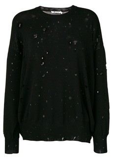 T by Alexander Wang distressed oversized jumper