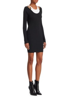 T by Alexander Wang Double Layer Bodycon Dress
