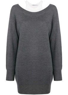 T by Alexander Wang double layer sweater dress