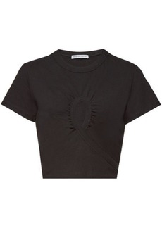 T by Alexander Wang Draped Cotton Top with Cut-Out Detail