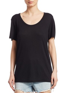 T by Alexander Wang Draped Jersey Tee