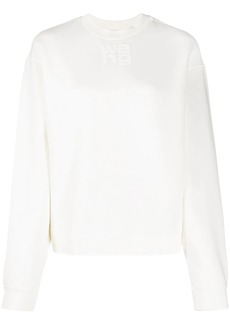 T by Alexander Wang embossed logo sweater