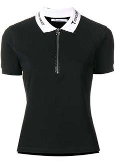 T by Alexander Wang embroidered collar polo shirt