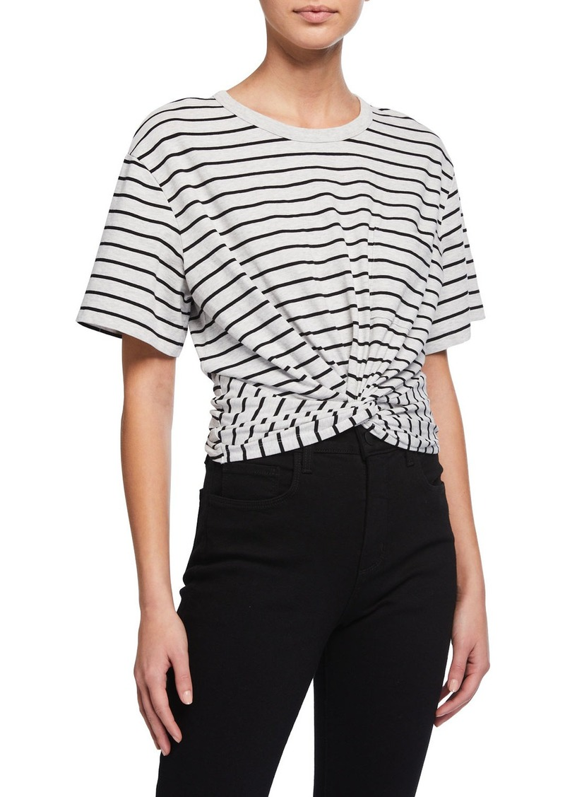 T by Alexander Wang High Twist Striped Pocket Tee